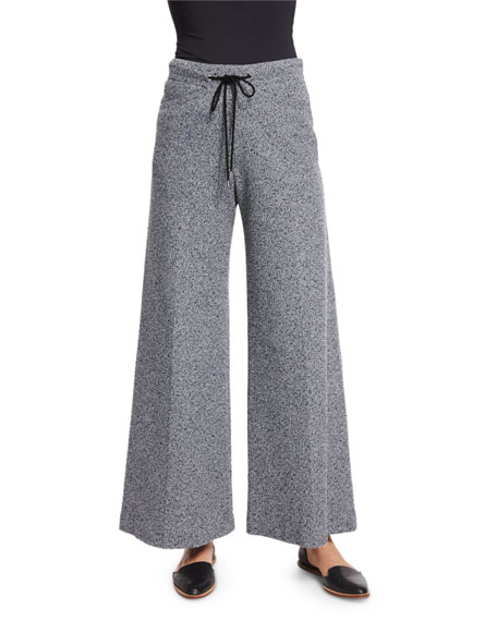 Derek Lam Drawstring-Waist Wide-Leg Pants, Navy