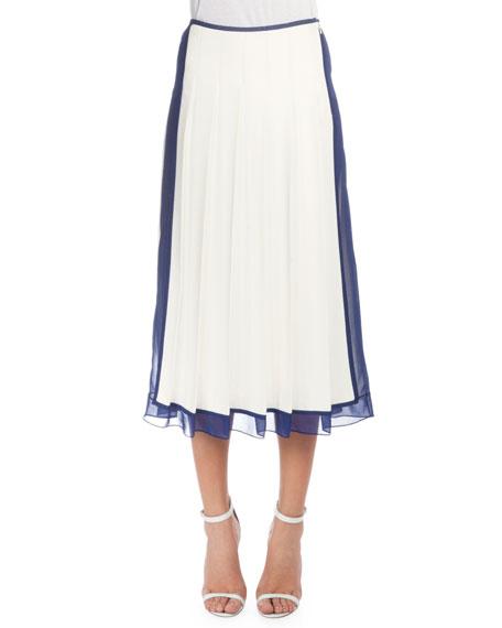 White Pleated Skirt | Neiman Marcus