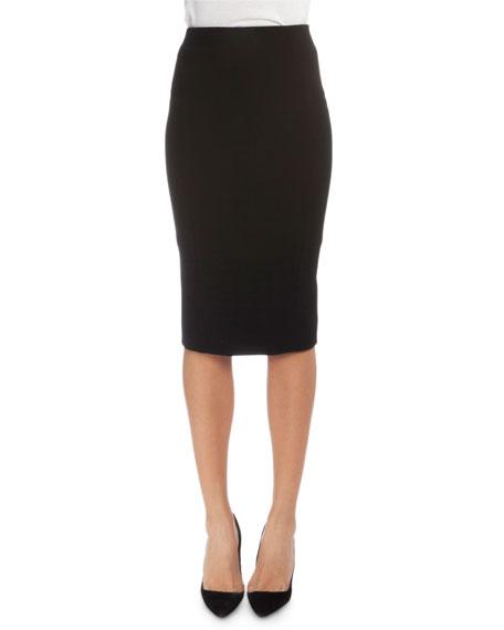 Victoria Beckham High-Waist Fitted Pencil Skirt, Black