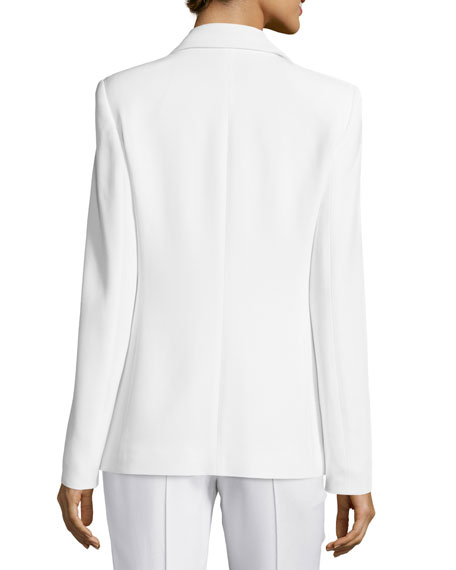 Open-Front Draped Jacket, Frost