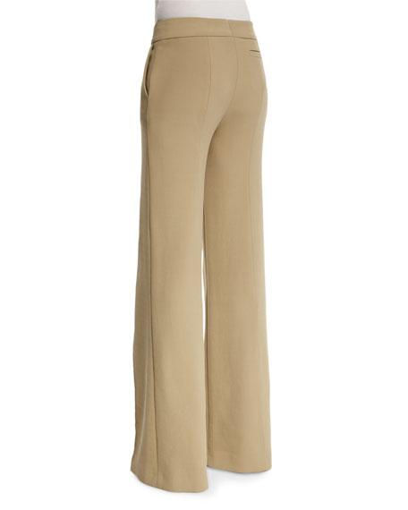 Mid-Rise Wide-Leg Pants, Sand Dune