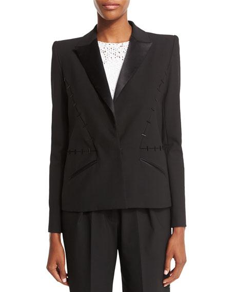 Zac Posen Structured Tuxedo Blazer, Licorice