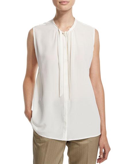 EtroSleeveless Tie-Neck Top, White