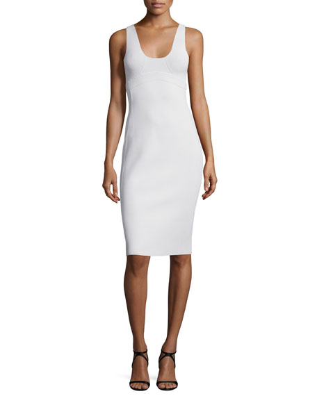 Narciso Rodriguez Scoop-Neck Tank Dress, Celadon