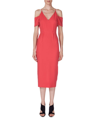 Goldney Cold-Shoulder Sheath Dress, Rose
