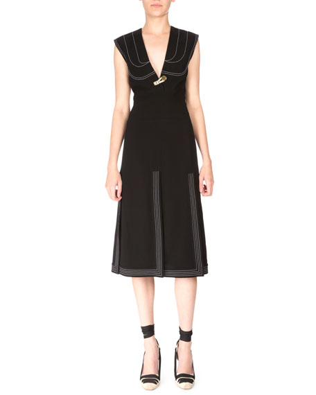 Altuzarra Sleeveless V-Neck Carwash Dress, Black