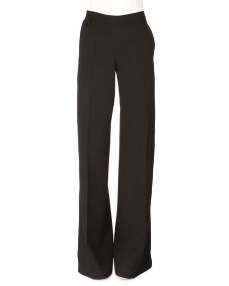 Altuzarra High-Waist Wide-Leg Pants, Black