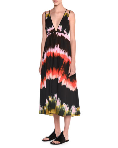 3b11943584ef8a Where to buy Tomas Maier Sleeveless Paint-Striped Sundress Multi ...