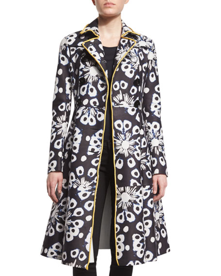 Burberry Prorsum Tie-Dye Leather Trench Coat, Ink
