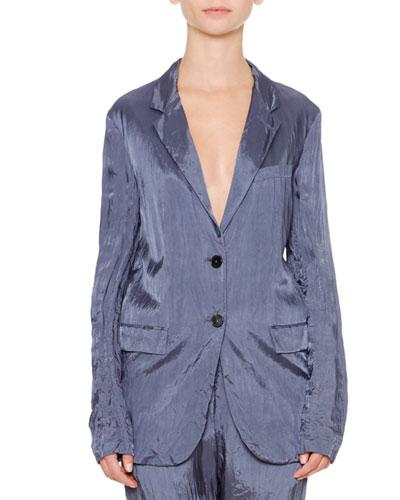 Artaud Two-Button Jacket, Slate Blue