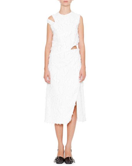 Jil Sander Antartide Sleeveless Cold-Shoulder Dress, Off White