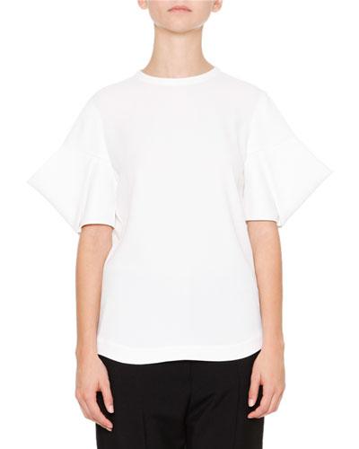 Acorn Short-Sleeve Top, Off White