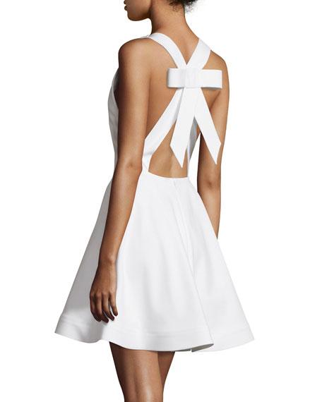 Cushnie Et Ochs Sleeveless Flirty Open Back Dress White Neiman Marcus