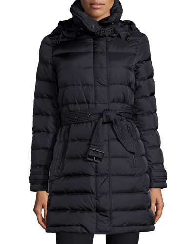 Winterleigh Belted Puffer W/ Removable Hood