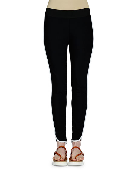 Stella McCartney Tabatha Contrast-Stripe Pants, Black