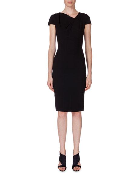 Roland Mouret Gylia V-Neck Sheath Dress, Black