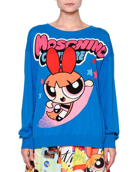 Powerpuff Girls Boyfriend Sweater, Blue