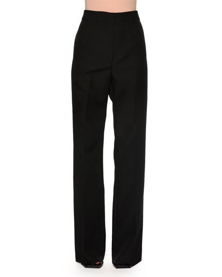 Marni High-Waist Wide-Leg Trousers, Black