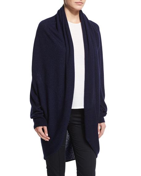 THE ROW Caro Cashmere-Silk Open-Front Cardigan, Lapis Blue