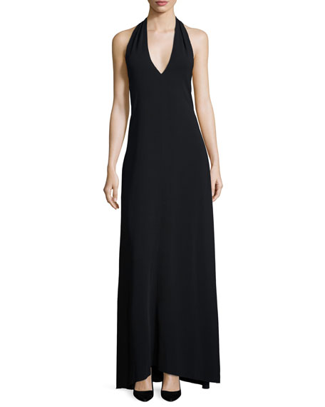 Lili Halter-Neck Dress, Black