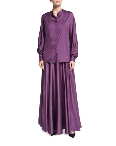 Ladia Mid-Rise Full Skirt, Grape
