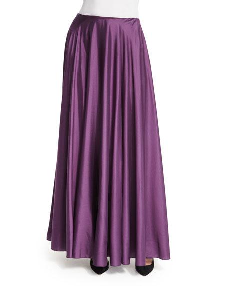 THE ROW Ladia Mid-Rise Full Skirt, Grape