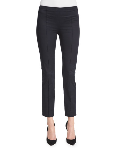 THE ROWSoroc Mid-Rise Skinny Cropped Pants, Dark Navy