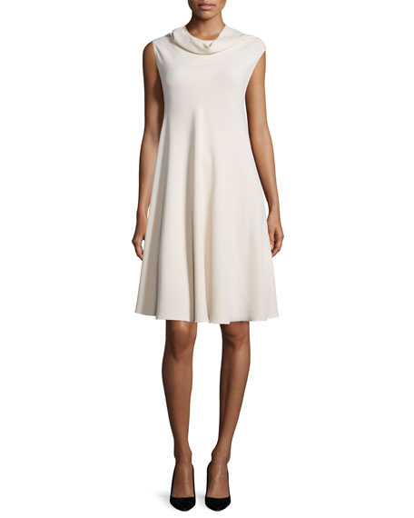 THE ROW Jenphen Sleeveless Cowl-Neck Dress, Alabaster