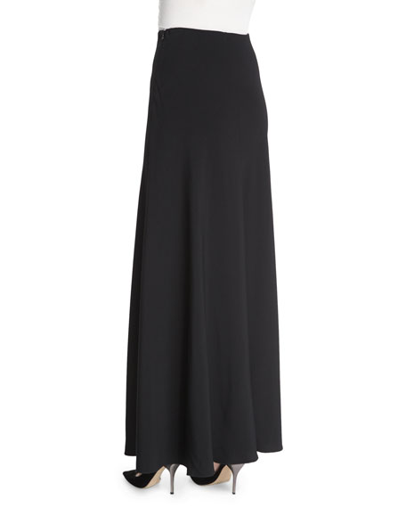 THE ROW Frol A-Line Maxi Skirt, Black
