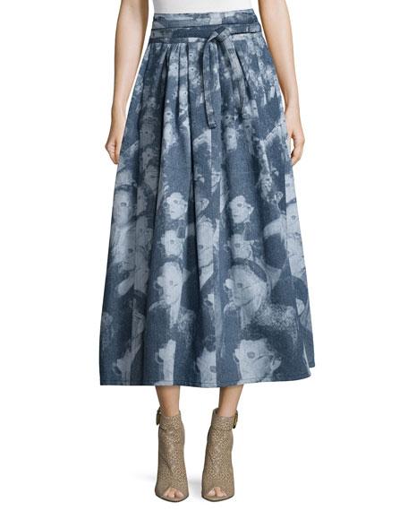 Marc JacobsThree-Dimensional Glasses Midi Skirt, Multi Colors