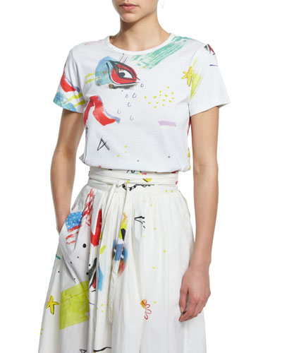 Short-Sleeve Printed T-Shirt, Multi Colors