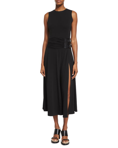 Michael Kors Collection Sleeveless Maxi Slide Dress, Black