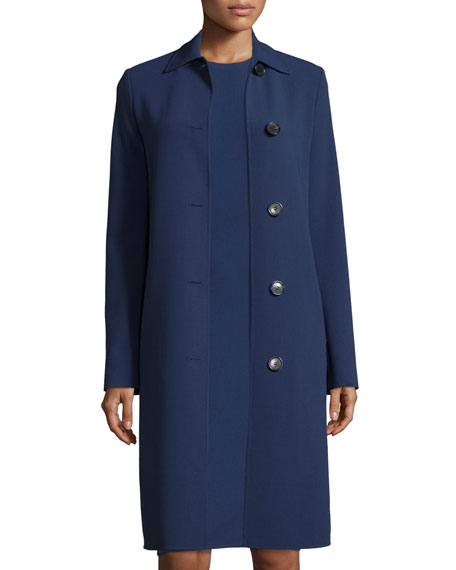 Michael Kors Collection Long-Sleeve Button-Front Reefer Coat,