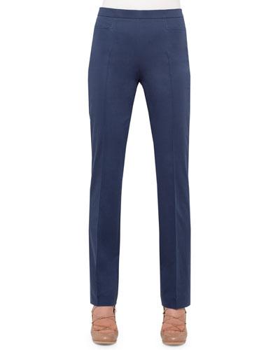 Francesca Slim-Leg Pants, Indigo