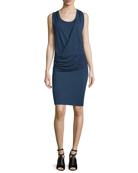 Burberry Brit Janey Sleeveless Ruched Sheath Dress