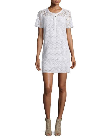Burberry Brit Alanna Short-Sleeve Lace Dress