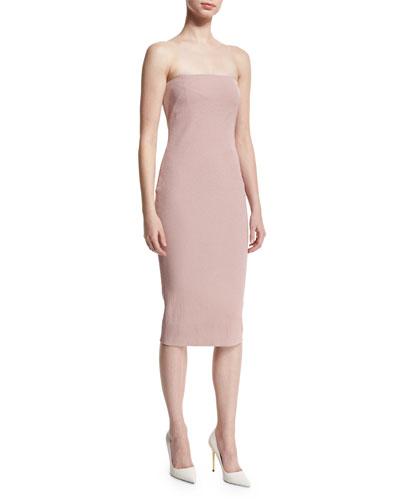 Strapless Tube Dress, Nude/Light Pink