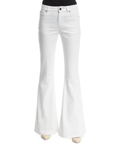 TOM FORD Five-Pocket Flare-Leg Jeans, Chalk