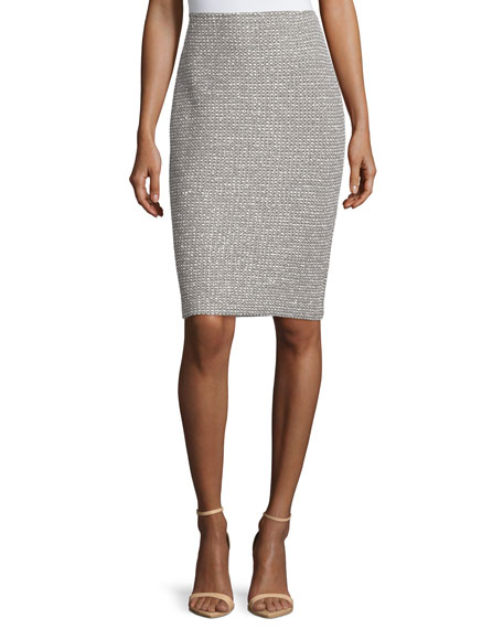 St. John Collection Moorisha Knit Pencil Skirt, Dark