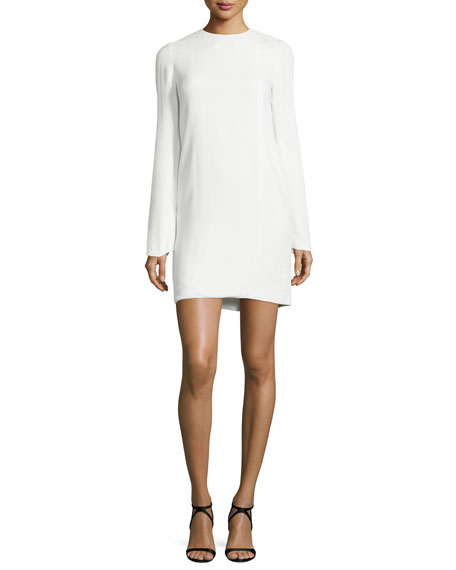 Alexander Wang Long-Sleeve Shift Dress, Bone