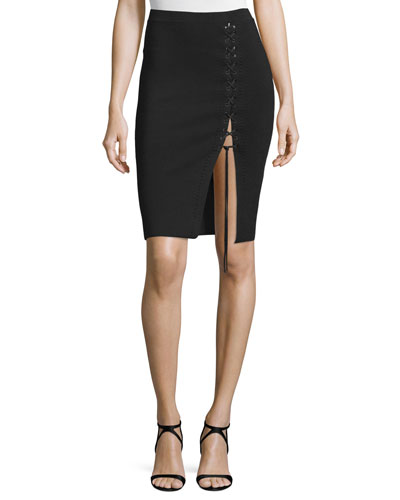 Lace-Up Pencil Skirt, Pitch