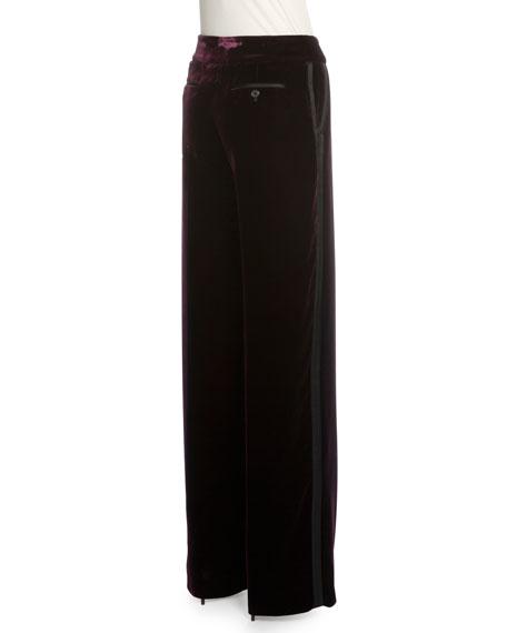 Mid-Rise Straight-Leg Pants, Royal Purple