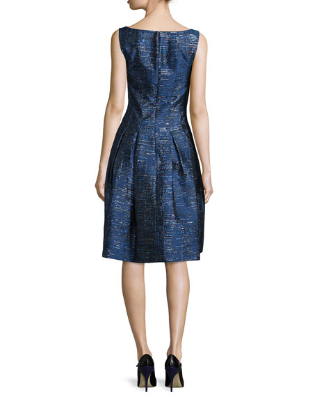 Sleeveless Fit-&-Flare Cocktail Dress, Navy