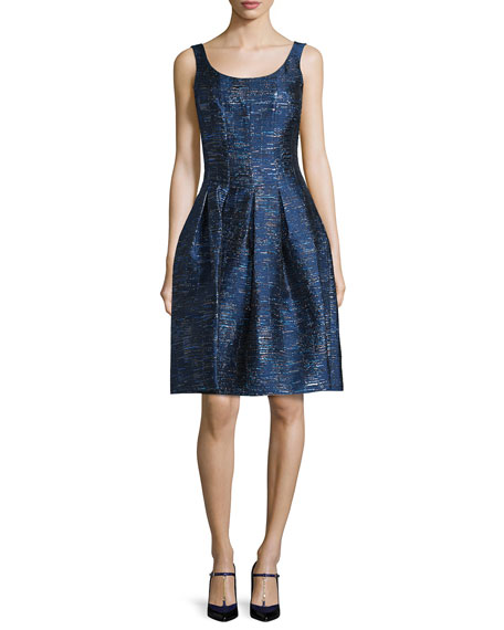 Oscar de la Renta Sleeveless Fit-&-Flare Cocktail Dress,