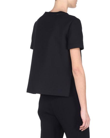 Fendi Fur Monster Short-Sleeve T-Shirt, Black