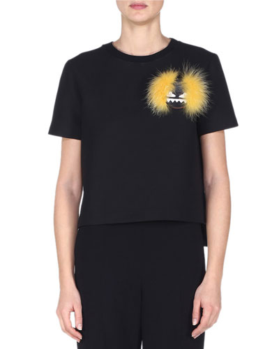 Fur Monster Short-Sleeve T-Shirt, Black