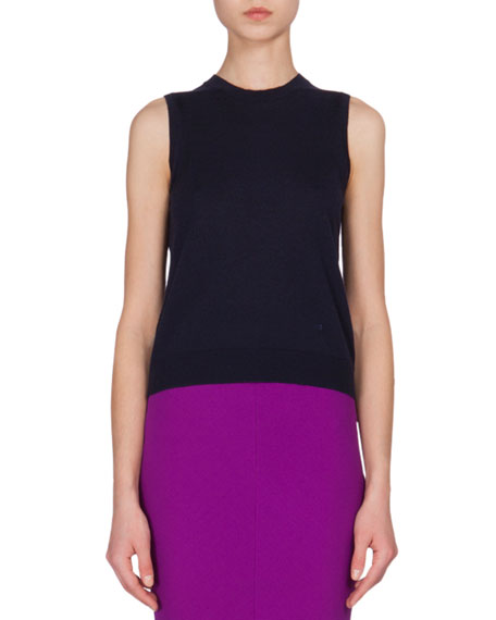 Jewel-Neck Cashmere Tank