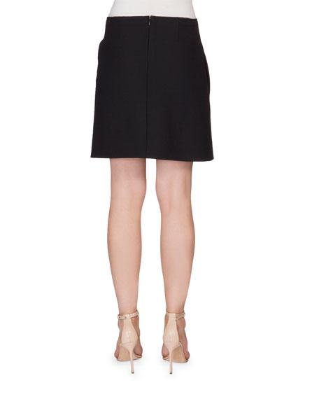Hip-Tie Mini Skirt, Black