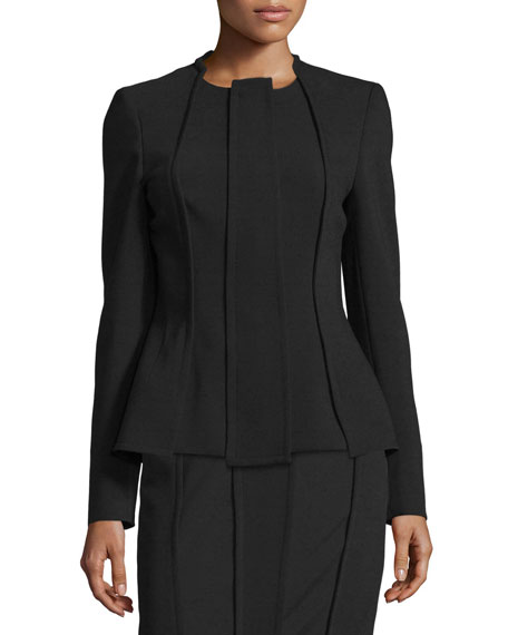 Escada Carwash Zip-Front Jacket, Black