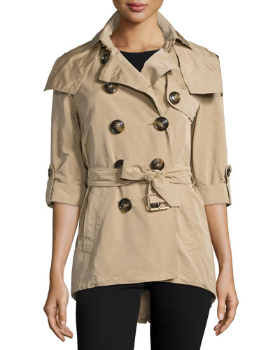 Knightsdale Hooded Relaxed Trenchcoat, Honey